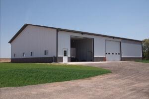Ag Storage and workshop post frame construction